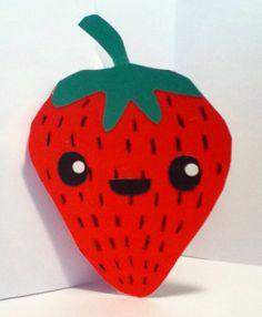 Handmade Kawaii Strawberry Card Cardstock by justcreativecards, $3.50