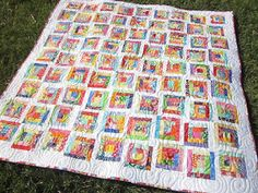 ~ Zany Quilter ~: Mini Log Cabin Quilt...