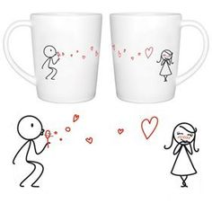 Boldloft From My Heart To Yours Couple Coffee Mugs-ideal Birthday Christmas Wedding Anniversary Valentine Gift For Him Or Her from BoldLoft - Gift Basket Themes
