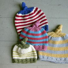 Ravelry: Baby's First Hat, Top Knot Hat by Sweet Baby Dolly pattern by Sweet Baby Dolly by Jami Klehr