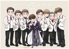 Find images and videos about exo, baekhyun and sehun on We Heart It - the app to get lost in what you love. Exo Kokobop, Kpop Exo, Kpop Drawings, Cartoon Drawings, Sistema Solar, Exo Cartoon, Exo Stickers, Exo For Life, L Wallpaper