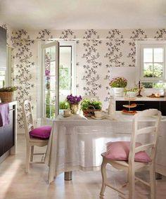 Toques de rosados y lilas
