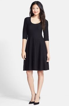 NIC+ZOE 'Twirl' Elbow Sleeve Knit Fit & Flare Dress (Regular & Petite) available at #Nordstrom