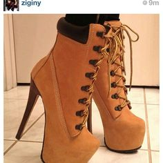 I will own these!!. Timberland Heels.