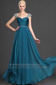 A-Line Sheath/Column Off-the-shoulder Sweetheart Chiffon Evening Dresses