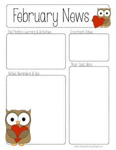 January Pre Newsletter Template Editable on for student, free energy, google free, elementary school, monthly classroom, december classroom, owl classroom, parent weekly, free community, downloadable digital,