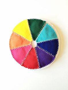 DIY Felt Color Wheel - teach kiddos colors with some fun!