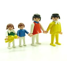 Playmobil People Vintage Play Set - Mom, Dad, Boy, Girl & Doll