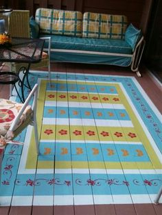 Simple painted rug