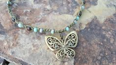 Check out this item in my Etsy shop https://www.etsy.com/listing/490649033/hemp-necklace-butterfly-pendant-sea