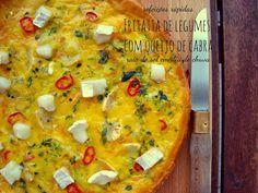 Bocadinhos de Açúcar: Fritatta de legumes com queijo de cabra