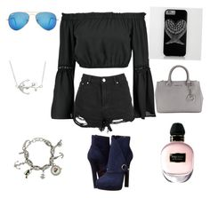 """""""Pirate ✋🏻"""" by niranstyles on Polyvore featuring Boohoo, Alexander McQueen, Ray-Ban, Michael Kors, Moschino and La Preciosa"""