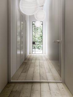 Internal Sliding Doors Into Wall Home, Pivot Doors, Door Design, Internal Glass Doors, Modern Houses Interior, Interior Architect, House Interior, Barn Doors Sliding, Doors Interior