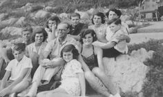 The Kennedy family in the south of France in the summer of 1939. They lived ina nearby villa but rented a beach cabana at the Hotel Cap d'Antibes, where this photo was taken. Bobby and Jean are in the front row: Jack, Eunice, Joe Sr., and Pat in the middle; Kick, Joe Jr., Rosemary, Rose, and Teddy in the back.