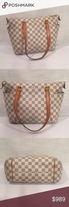8a7831d50896 LOUIS VUITTON TOTALLY PM DAMIER AZUR! NO TRADES! NO LOWBALLS! PRICE IS  FIRM! Louis Vuitton Totally PM Damier Azur! Made in France! Retired piece!  Classic!
