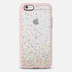 Gold Multicolor Pastel Confetti Transparent iPhone 6S case by Organic  Saturation  af8d0c97bc0