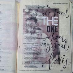 Photo Transfer in my Bible #Bible Art Journaling deutsch #bibleartjournaling_canada by Rebecca Sawatsky