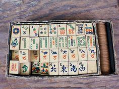 SALE  WAS 35.00  Antique 1923 Mah Jongg Junior by VinylSupercade