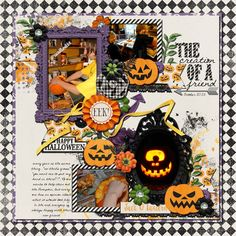 The Creation of a Friend - Sweet Shoppe Gallery Team Page, Scrapbook Designs, Hallows Eve, Happy Halloween, Digital Scrapbooking, Layout, Create, Friends, Gallery