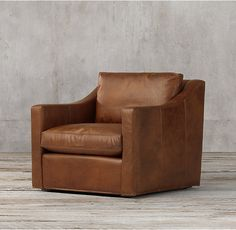 The Petite Belgian Classic Slope Arm Leather Chair