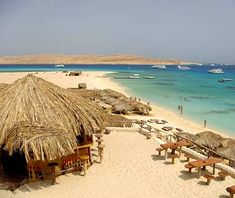 Swam in the Red Sea in Hurghada, Egypt