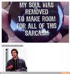 See, rate and share the best supernatural memes, gifs and funny pics. Memedroid: your daily dose of fun! Sam Dean, Destiel, Johnlock, Impala 67, Jace Lightwood, Supernatural Memes, Spn Memes, Funny Memes, Bubbline