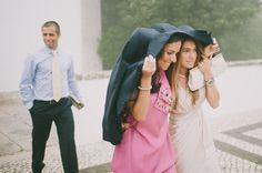 would be a cute wedding pic if it happens to rain