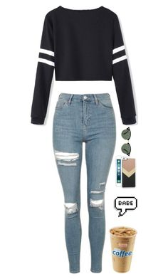 """RTD!!!! Please!!! Coffee?"" by simplylovelyruru ❤ liked on Polyvore featuring Topshop, Zero Gravity and Ray-Ban"