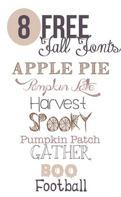 The best free fonts for fall to use for fall projects, designs, and decor.