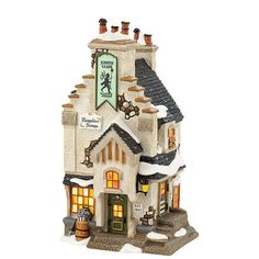 Department 56 Dickens' Village Hampshire Sweeps House Collectible Figurine - Holiday Lane - For The Home - Macy's Lemax Christmas Village, Christmas Villages, Christmas Home, Christmas Mantles, Halloween Village, Silver Christmas, Victorian Christmas, Christmas Trees, Vintage Christmas
