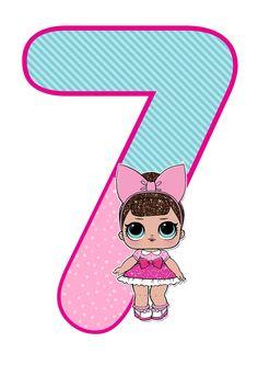 Набор цифр в стиле Куклы Лол (0-9) Цифры с декором для печати Распечатай к празднику (бесплатно) Каталог статей 7th Birthday Party Ideas, Baby Birthday, Festa Baby Alive, Fete Emma, Deco Ballon, Lol Doll Cake, Doll Party, Lol Dolls, Party Time
