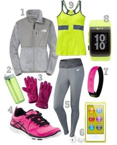 Like many other forms of exercise, you would need proper apparel for running. Many people are content using running shoes as their only gear. However, the shoes only form a part of the gear. Proper running apparel will make you feel snug and cozy when. Workout Attire, Workout Wear, Workout Outfits, Fitness Outfits, Fitness Wear, Workout Tanks, Sport Fashion, Fitness Fashion, Fitness Clothing