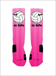 Volleyball Socks Volleyball is Life Custom by NikkisNameGifts, $18.00