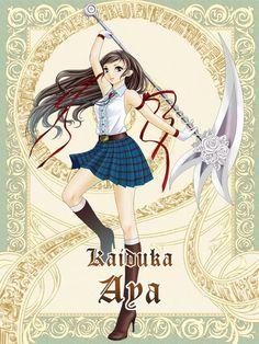 anime girl with scythe | Scythe girl Aya