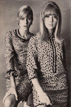 Vanity Fair 1965..Pattie Boyd and Jill Kennington