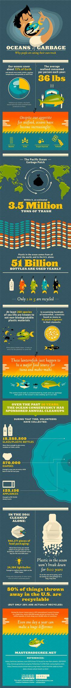 Ocean Garbage Infographic