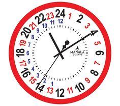 24 hour clock face template - Recherche Google | Cool ...