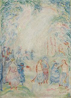 James Ensor - Figures Fleuries (1937)
