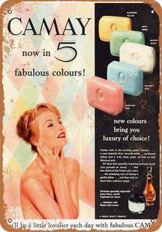 Retro Advertising, Retro Ads, Vintage Advertisements, Pub Vintage, Photo Vintage, Vintage Vanity, Sweet Memories, Childhood Memories, Camay Soap