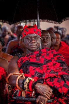 Ashanti chiefs at the funeral of Elizabeth asante
