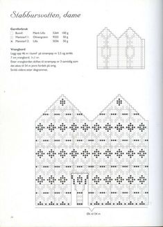 """Photo from album """"Norske Luer - Norske Votter"""" on Yandex. Knitted Mittens Pattern, Crochet Cross, Crochet Chart, Wool Gloves, Mitten Gloves, Knitting Charts, Knitting Patterns, Baby Mittens, Tejidos"""