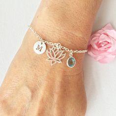 Lotus flower bracelet silver Lotus flower bracelet Lotus flower jewellery lotus jewelry silver Lotus flower silver bracelet by StatementMadeUK Silver Bracelets, Charm Bracelets, Friendship Bracelets, Beaded Bracelets, Bond, Flower Bracelet, Lotus Jewelry, Personalized Bracelets