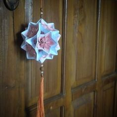 Electra 30 units (designed by David Mitchell) combined with kusudama, folded by…