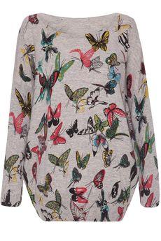 Happy Butterflies sweater grey