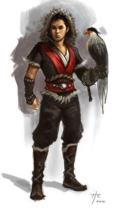 Interesting outfit idea. (Mongolian Hawk Hunter by ~Rustveld on deviantART)