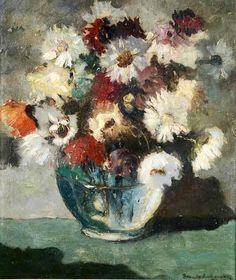 BRUNO LECHOWSKI - Vaso de flores - ost - 46 x 55