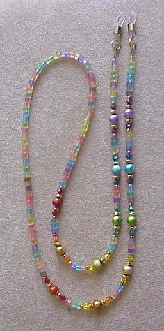 Divertido y Funky arco iris lente cadena titular