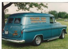 1957 Chevy Panel Truck Hot Rod Trucks, Gm Trucks, Cool Trucks, Pickup Trucks, Cool Cars, Chevrolet Van, Chevrolet Trucks, Station Wagon, Panel Truck