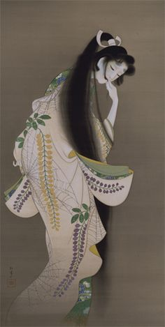 'A Flame'《炎》, Uemura Shōen (上村松園), a hanging scroll: ink and color on silk, x cm, Tokyo National Museum Japanese Prints, Japanese Design, Art Chinois, Bokashi, Japan Painting, Art Asiatique, Art Japonais, Art Graphique, Japan Art