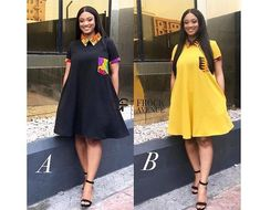 Check out this classic Ankara mixed colour combination dresses for your casual outtings Short African Dresses, Latest African Fashion Dresses, African Print Dresses, African Print Fashion, African Print Dress Designs, Dresses For Pregnant Women, African Traditional Dresses, African Attire, The Dress